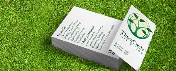 Fat business cards overnight prints custom printed premium business cards in grass field reheart Image collections