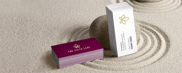 Business cards custom business cards overnight prints custom printed miniature slim business cards in a zen garden reheart Image collections