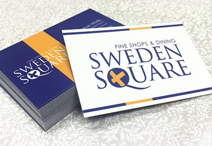 Custom printed European sized business cards