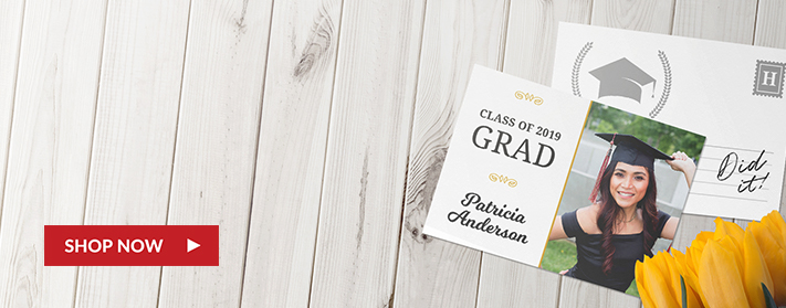 Postcard Graduation Announcements