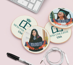 Custom gourmet graduation cookies