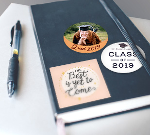 Design personalized graduation stickers
