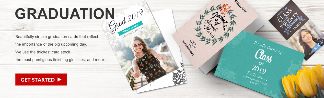 Graduation Announcements from Overnight Prints
