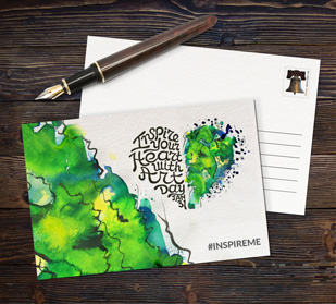 Create custom postcards